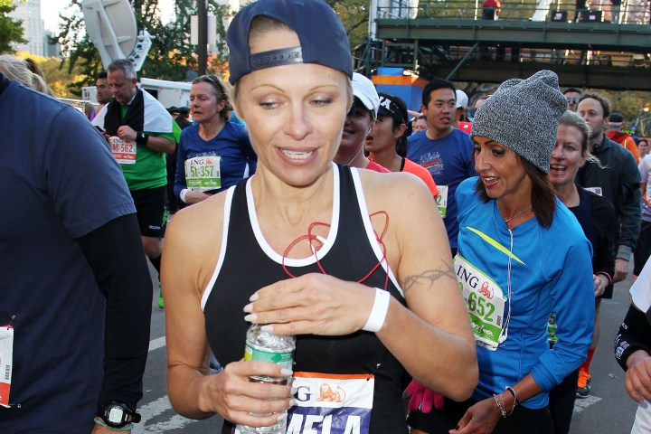 Pamela Anderson finishes marathon in under six hours